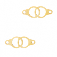 Stainless steel charms/connector rings Gold