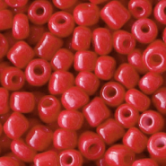 Glass seed beads 6/0 (4mm) Crimson Red