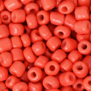 Glass seed beads 6/0 (4mm) Neon Coral Orange
