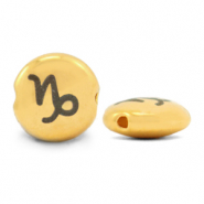 DQ European metal beads 7mm zodiac sign Capricorn Gold (nickel free)