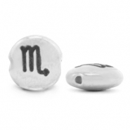 DQ European metal beads 7mm zodiac sign Scorpio Antique Silver (nickel free)