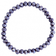 Top faceted bracelets 6x4mm Grape Purple-Pearl Shine Coating