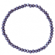 Top faceted bracelets 4x3mm Grape Purple-Pearl Shine Coating