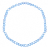 Top faceted bracelets 4x3mm Lavender Blue-Pearl Shine Coating