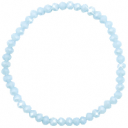 Top faceted bracelets 4x3mm Ice Blue-Pearl Shine Coating