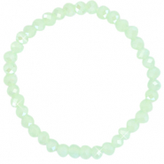 Top faceted bracelets 6x4mm Paradise Green-Pearl Shine Coating