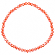 Top faceted bracelets 4x3mm Fiery Red-Pearl Shine Coating