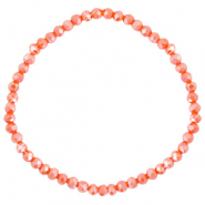 Top faceted bracelets 4x3mm Spicy Orange-Pearl Shine Coating