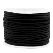 Coloured elastic cord 2mm Black