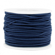 Coloured elastic cord 2mm Dark Blue