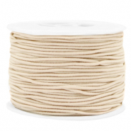 Coloured elastic cord 1.5mm Beige