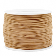 Coloured elastic cord 1.2mm Camel Brown
