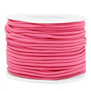 Coloured elastic cord 2mm Azalea Pink