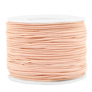 Coloured elastic cord 1.2mm Peach Blush Pink