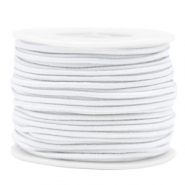 Coloured elastic cord 2mm White