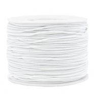 Coloured elastic cord 1.2mm White