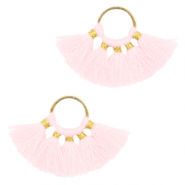 Tassels charm Gold-Light Pink
