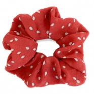 Scrunchies hair tie dots Red