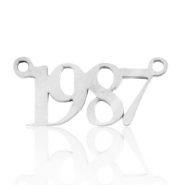 Stainless steel charms/connector year 1987 Silver