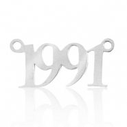 Stainless steel charms/connector year 1991 Silver
