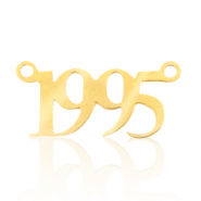 Stainless steel charms/connector year 1995 Gold