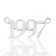 Stainless steel charms/connector year 1997 Silver