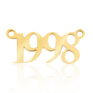 Stainless steel charms/connector year 1998 Gold