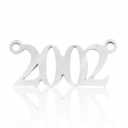 Stainless steel charms/connector year 2002 Silver