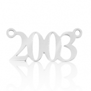 Stainless steel charms/connector year 2003 Silver