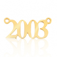Stainless steel charms/connector year 2003 Gold