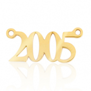 Stainless steel charms/connector year 2005 Gold