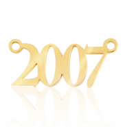 Stainless steel charms/connector year 2007 Gold