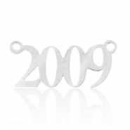 Stainless steel charms/connector year 2009 Silver
