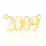 Stainless steel charms/connector year 2009 Gold