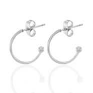 Stainless steel earrings creole Silver