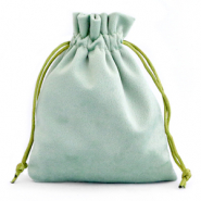 Jewellery Velvet Bag Green Ash
