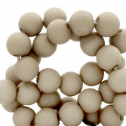 6 mm acrylic beads Vetiver Grey