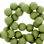4 mm acrylic beads Green Olive