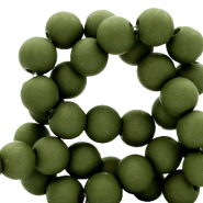 6 mm acrylic beads Dusty Olive