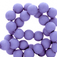6 mm acrylic beads Ultra Violet Purple