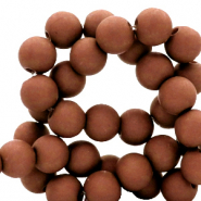 6 mm acrylic beads Fired Brick Brown