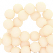 6 mm acrylic beads Papyrus White Beige
