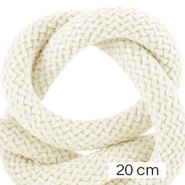 Maritime cord 10mm (4x20cm) Ivory White