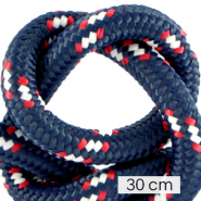 Maritime cord 10mm (3x30cm) Multicolour Red White Blue