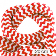 Maritime cord 10mm (4x20cm) White-Red
