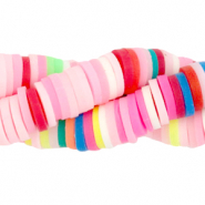 Katsuki beads 6mm Rainbow Pink Mix