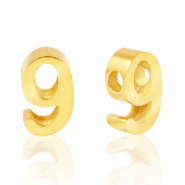 Stainless steel beads number 9 Gold