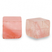 8 mm natural stone beads square Blossom Pink