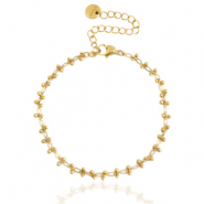 Stainless steel bracelets belcher chain Gold