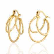 Stainless steel earrings creole Gold